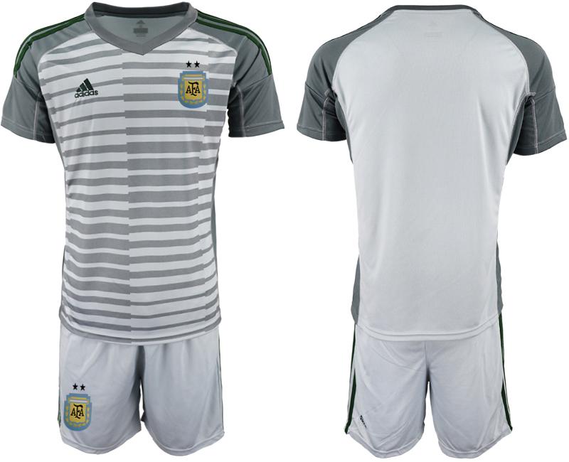 2019-20 Argentina Gray Goalkeeper Soccer Jersey