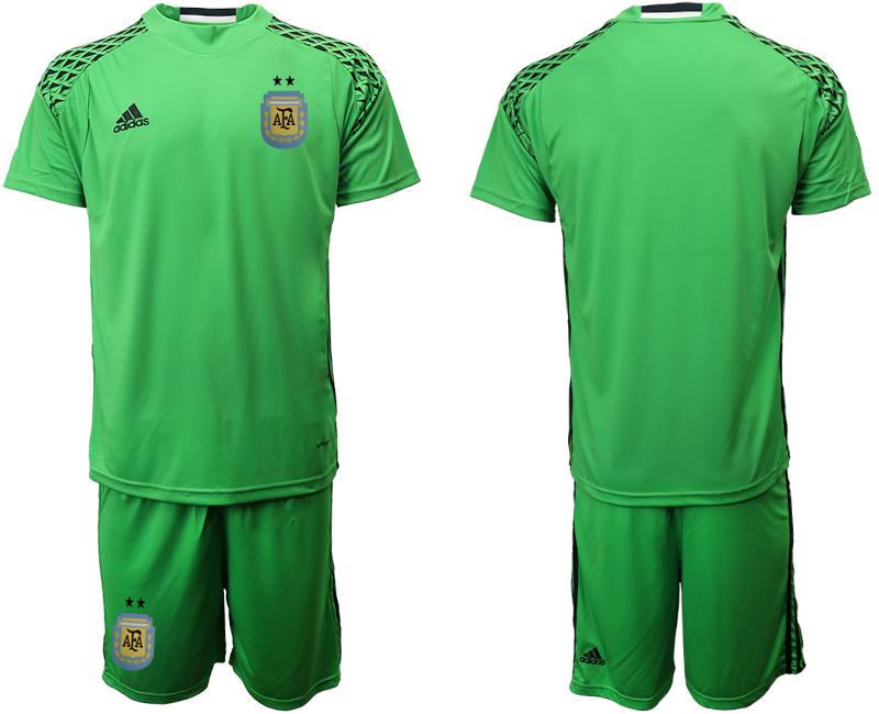 2019-20 Argentina Green Goalkeeper Soccer Jersey