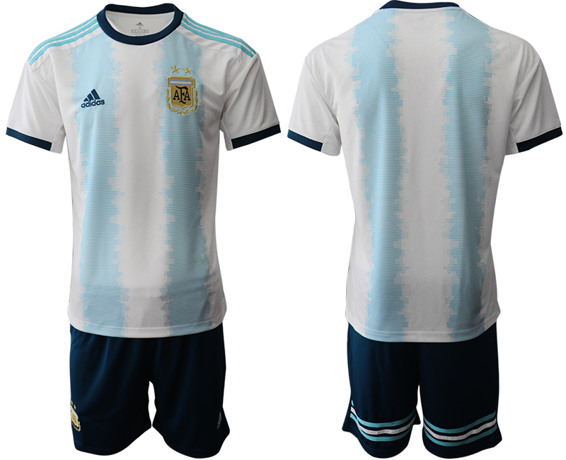 2019-20 Argentina Home Soccer Jersey