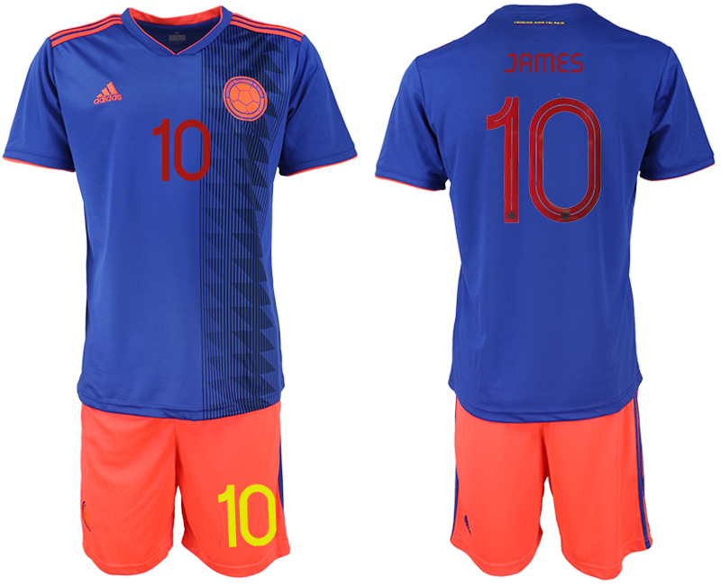 2019-20 Colombia 10 JAMES Away Soccer Jersey