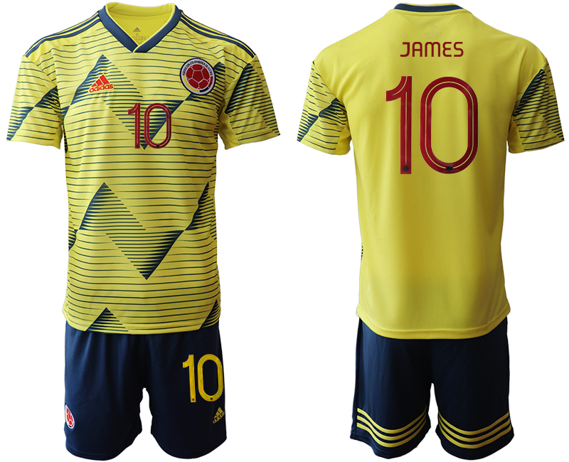 2019-20 Colombia 10 JAMES Home Soccer Jersey