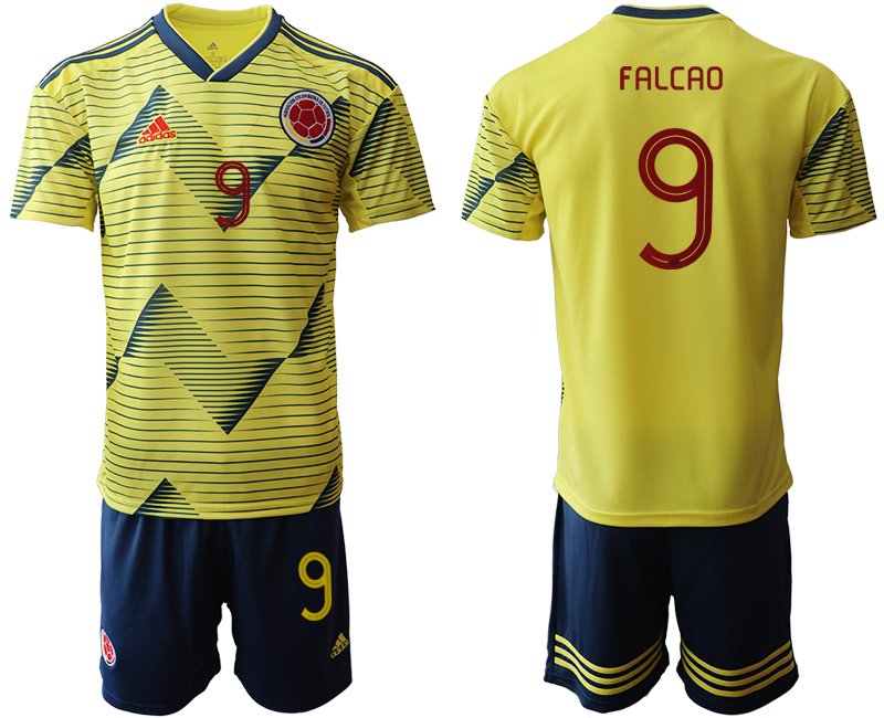 2019-20 Colombia 9 FALCAO Home Soccer Jersey