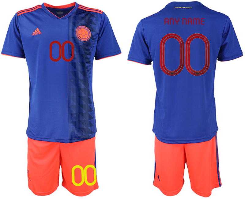 2019-20 Colombia Customized Away Soccer Jersey