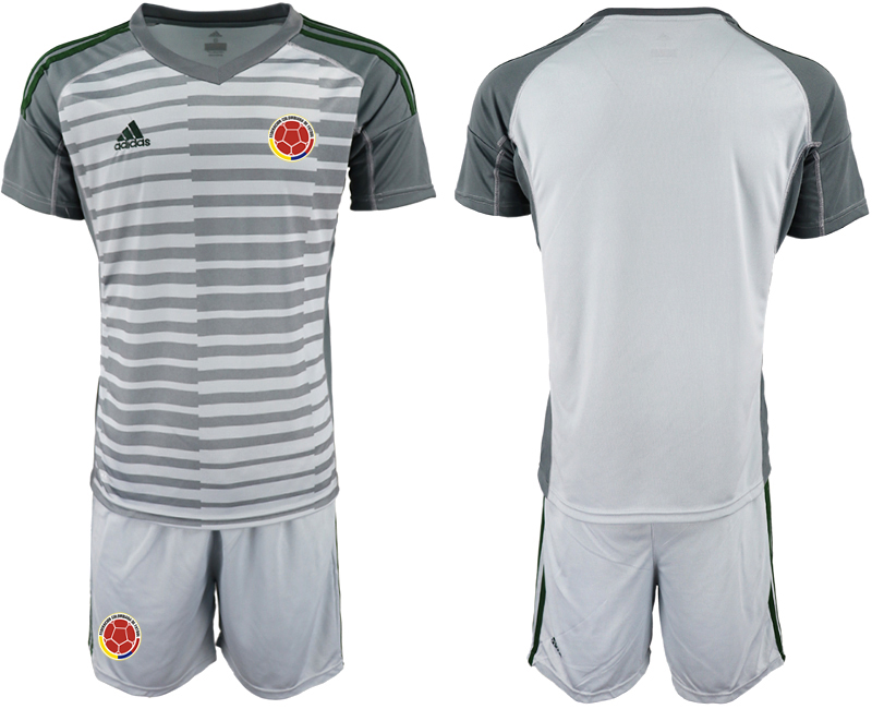 2019-20 Colombia Gray Goalkeeper Soccer Jersey