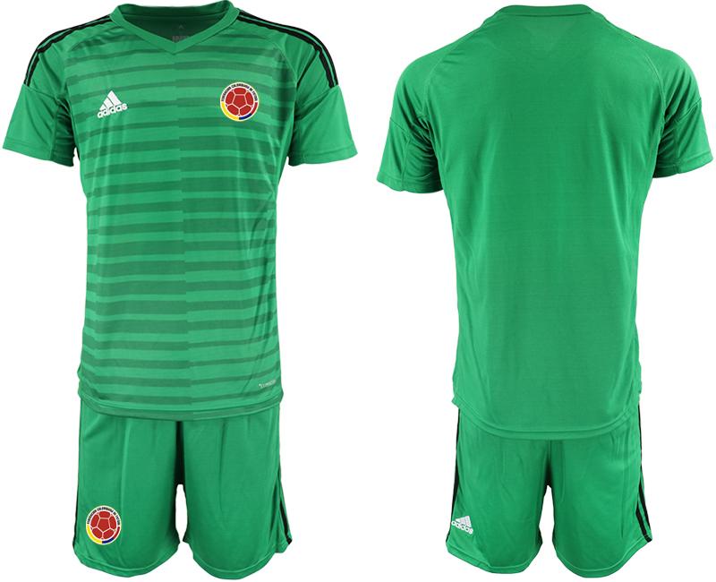 2019-20 Colombia Green Goalkeeper Soccer Jersey