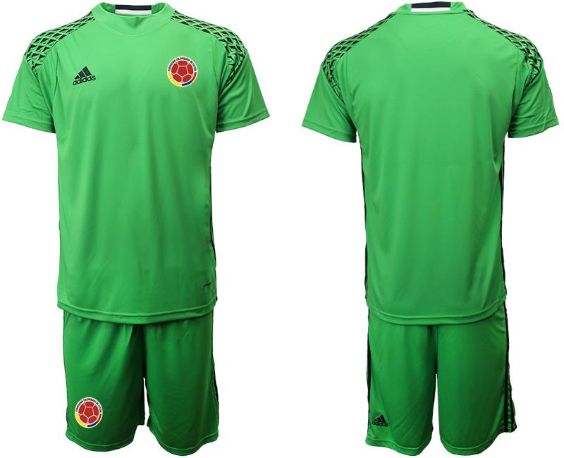 2019-20 Colombia Green Goalkeeper Soccer Jerseys