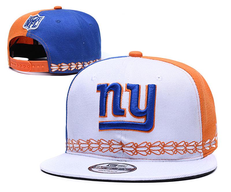 New York Giants Team Logo White Blue 2019 Draft Adjustable Hat YD