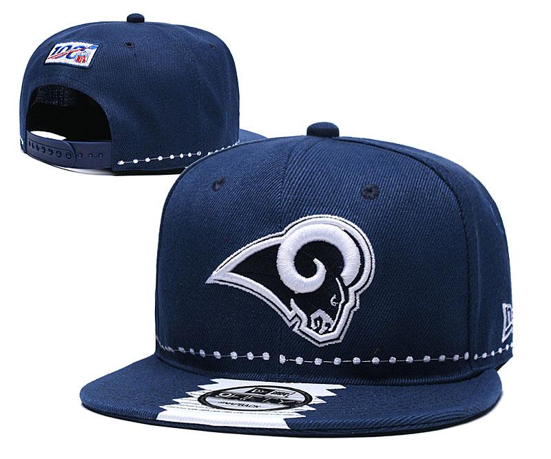 Rams Team Logo Navy 2019 Draft 100th Season Adjustable Hat YD