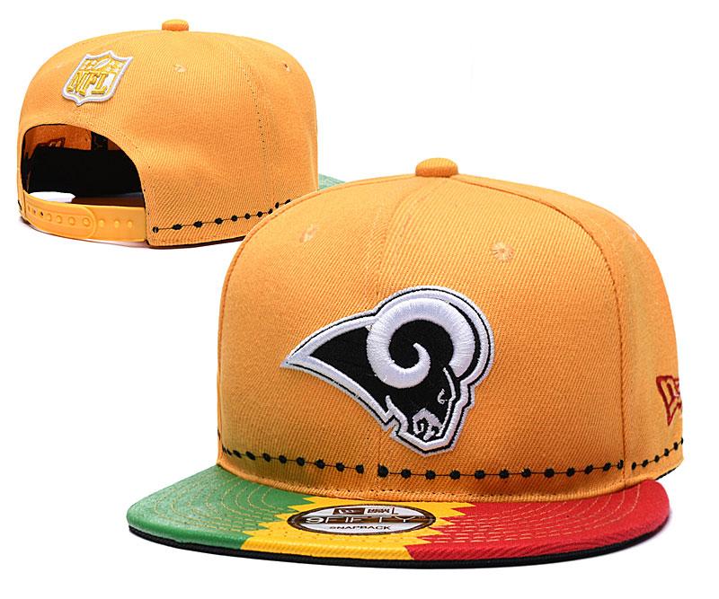 Rams Team Logo Yellow 2019 Draft 100th Season Adjustable Hat YD