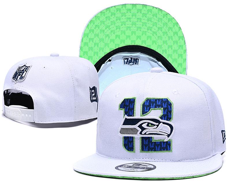 Seahawks Team Logo White 2019 Draft Adjustable Hat YD