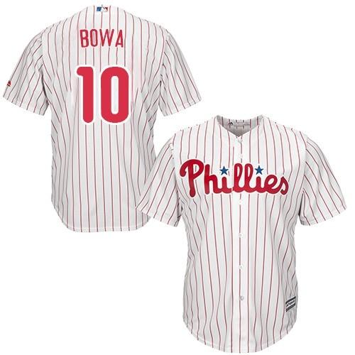 Phillies 10 Larry Bowa White Cool Base Jersey