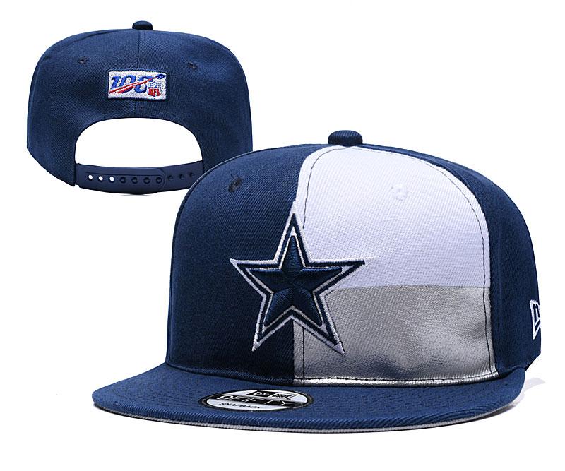 Cowboys Team Logo Navy White 2019 Draft Adjustable Hat YD