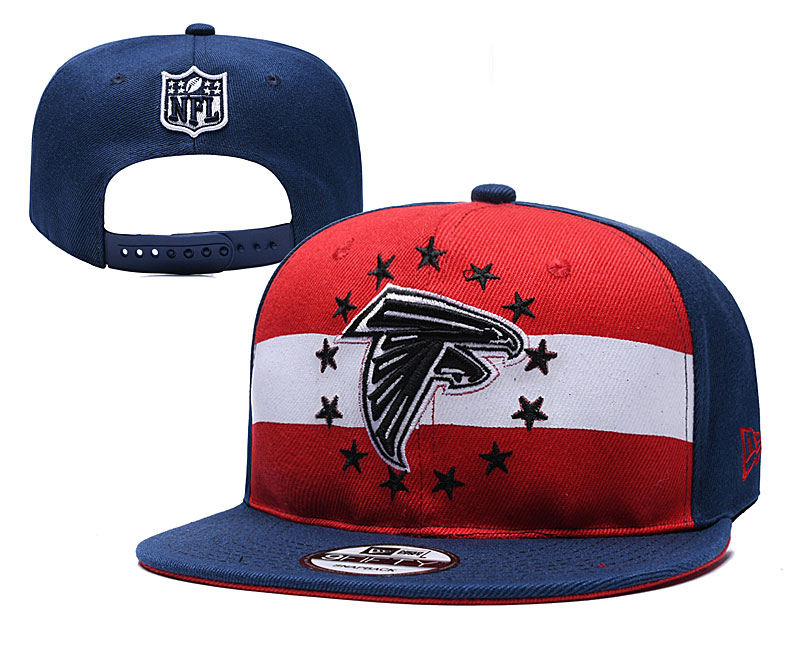 Falcons Team Logo Navy Red 2019 Draft Adjustable Hat YD