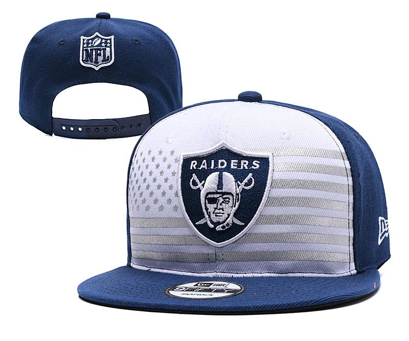 Raiders Team Logo Navy White 2019 Draft Adjustable Hat YD