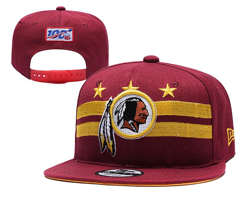 Redskins Team Logo Red 2019 Draft Adjustable Hat YD