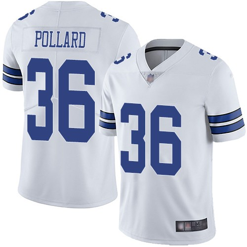 Nike Cowboys 36 Tony Pollard White 2019 NFL Draft First Round Pick Vapor Untouchable Limited Jersey