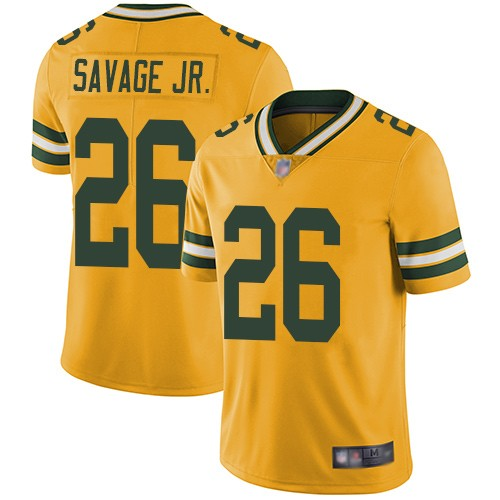Nike Packers 26 Darnell Savage Jr. Yellow 2019 NFL Draft First Round Pick Vapor Untouchable Limited Jersey