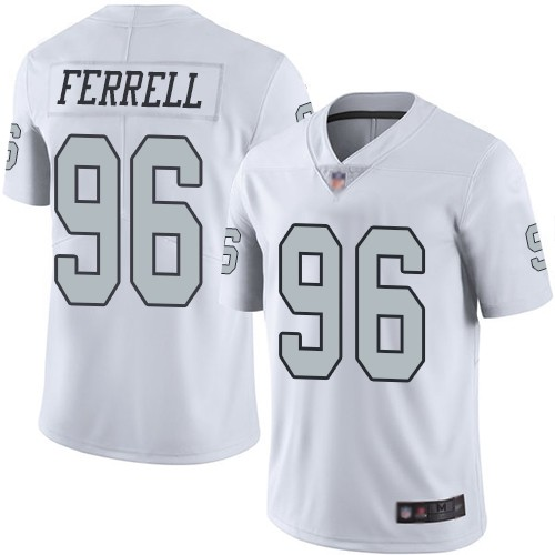 Nike Raiders 96 Clelin Ferrell White 2019 NFL Draft First Round Pick Color Rush Limited Jersey