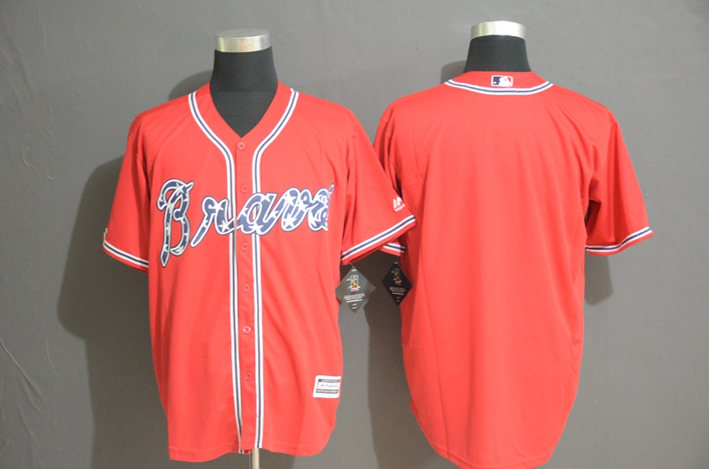 Braves Blank Red Cool Base Jerseys
