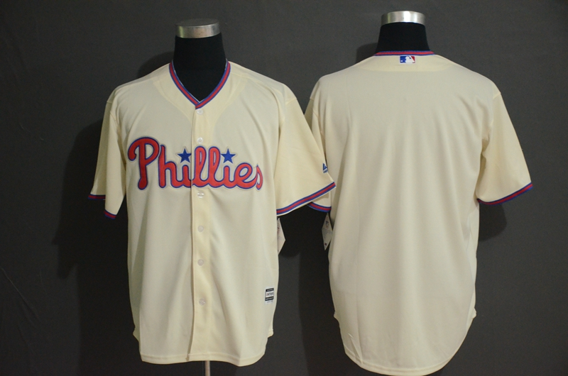 Phillies Blank Cream Cool Base Jersey
