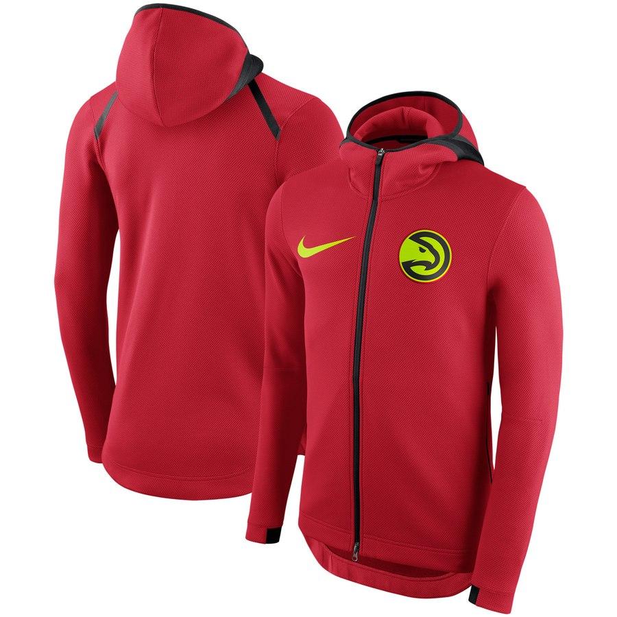 Atlanta Hawks Nike Showtime Therma Flex Performance Full Zip Hoodie Red