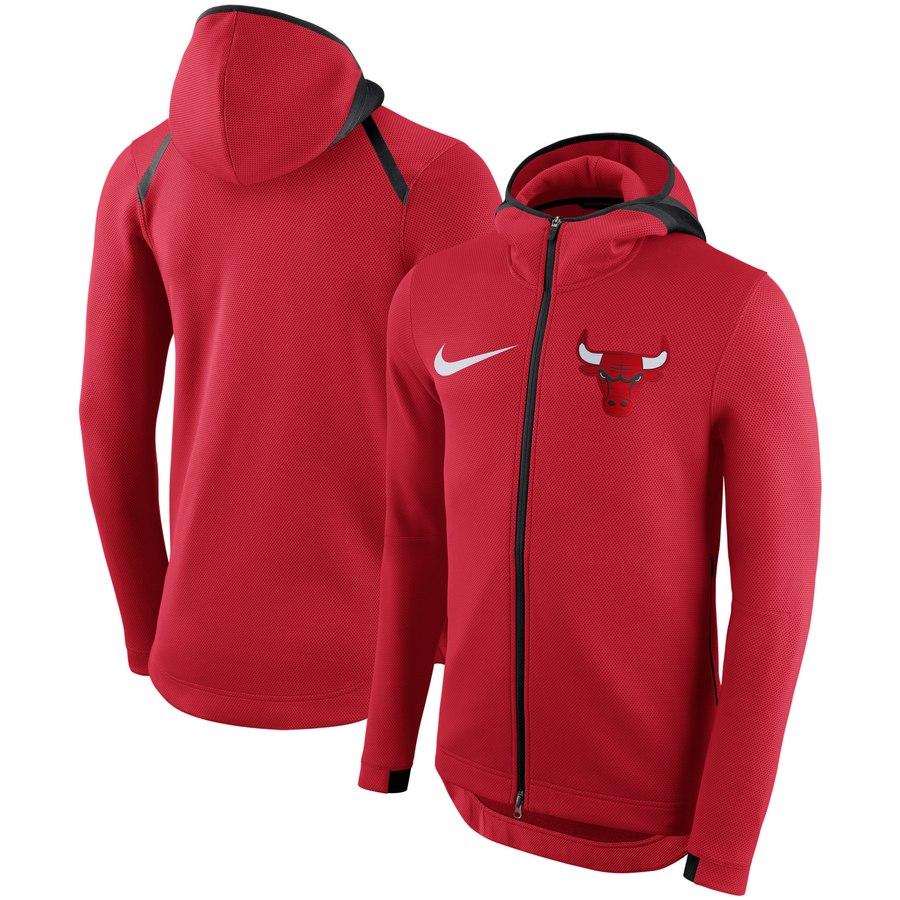 Chicago Bulls Nike Showtime Therma Flex Performance Full Zip Hoodie Red