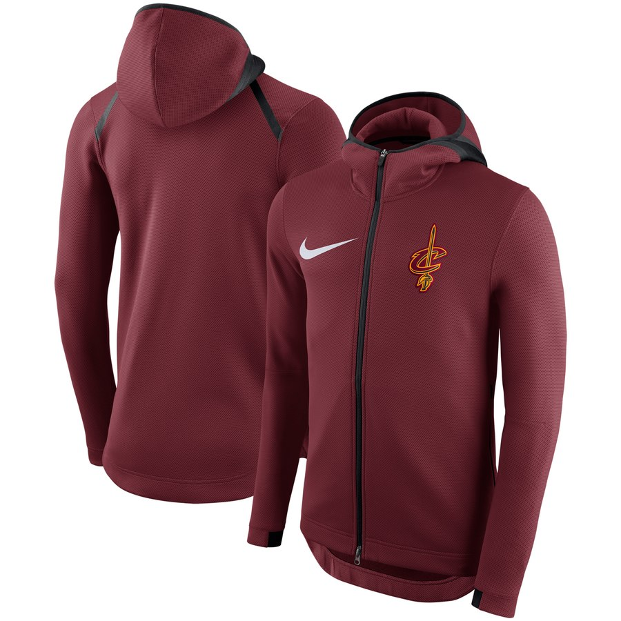 Cleveland Cavaliers Nike Showtime Therma Flex Performance Full Zip Hoodie Red