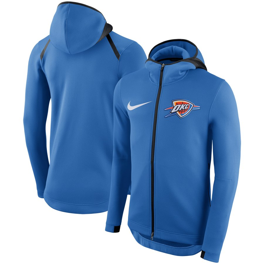 Oklahoma City Thunder Nike Showtime Therma Flex Performance Full Zip Hoodie Blue