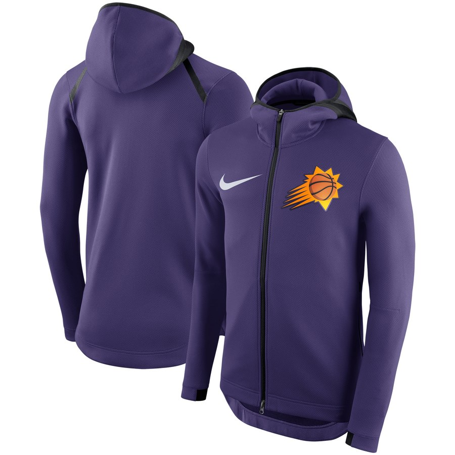 Phoenix Suns Nike Showtime Therma Flex Performance Full Zip Hoodie Purple