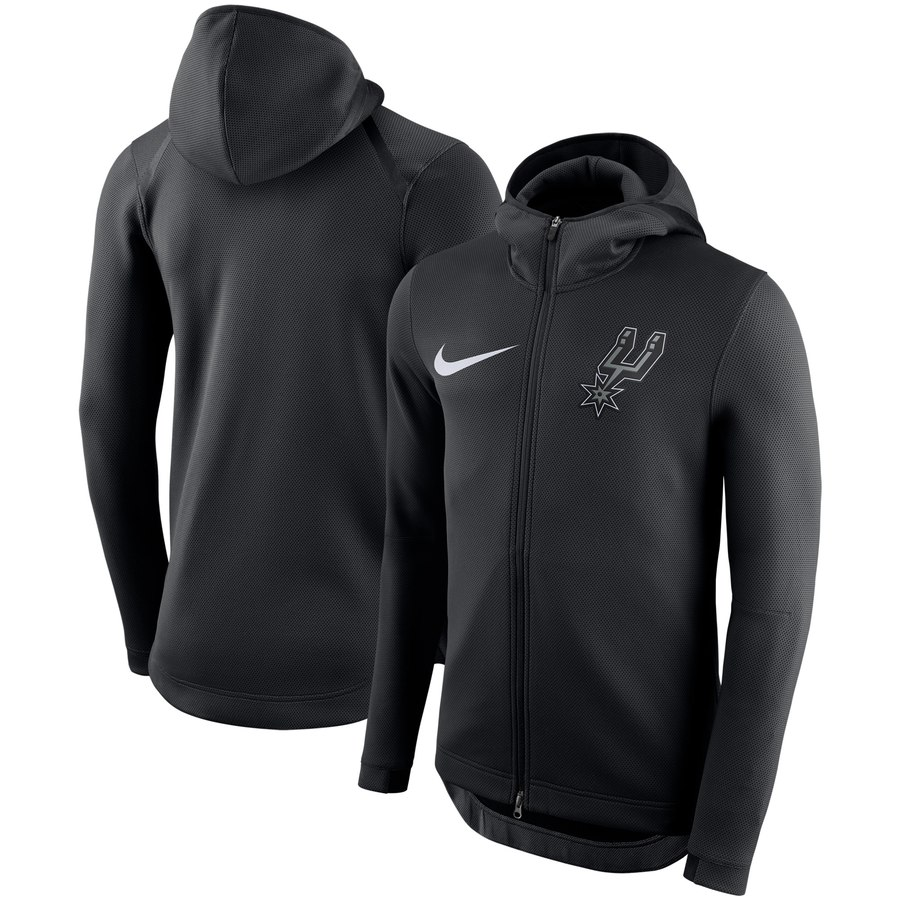 San Antonio Spurs Nike Showtime Therma Flex Performance Full Zip Hoodie Black