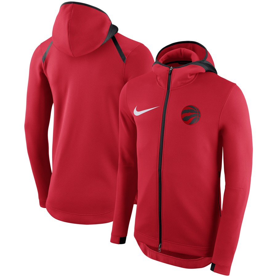 Toronto Raptors Nike Showtime Therma Flex Performance Full Zip Hoodie Red