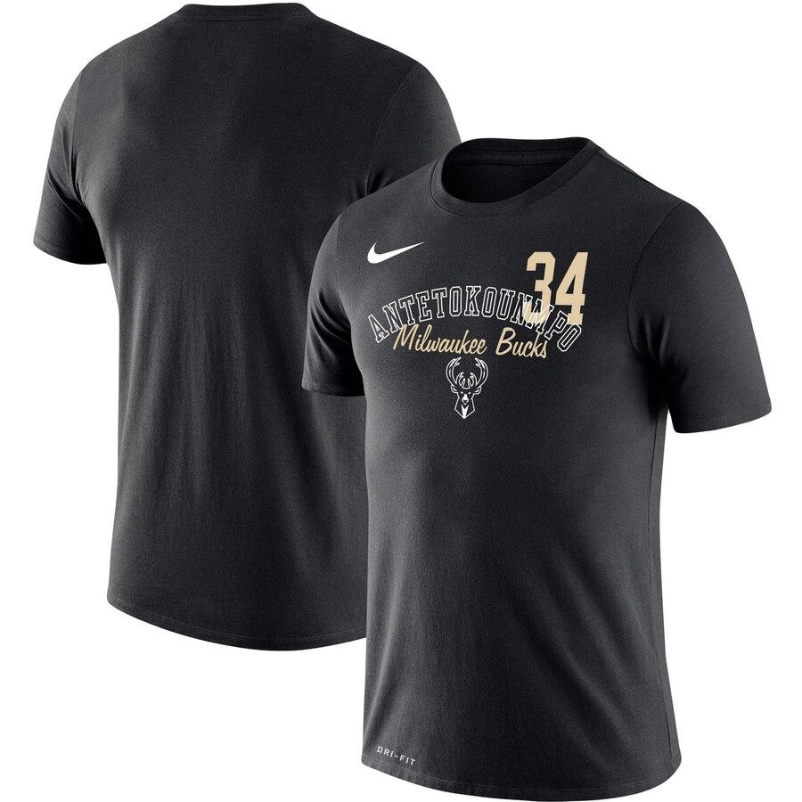 Giannis Antetokounmpo Milwaukee Bucks Nike Player Performance T-Shirt Black