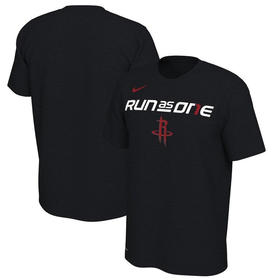 Houston Rockets Nike 2019 NBA Playoffs Bound Team Mantra Dri FIT T-Shirt Black