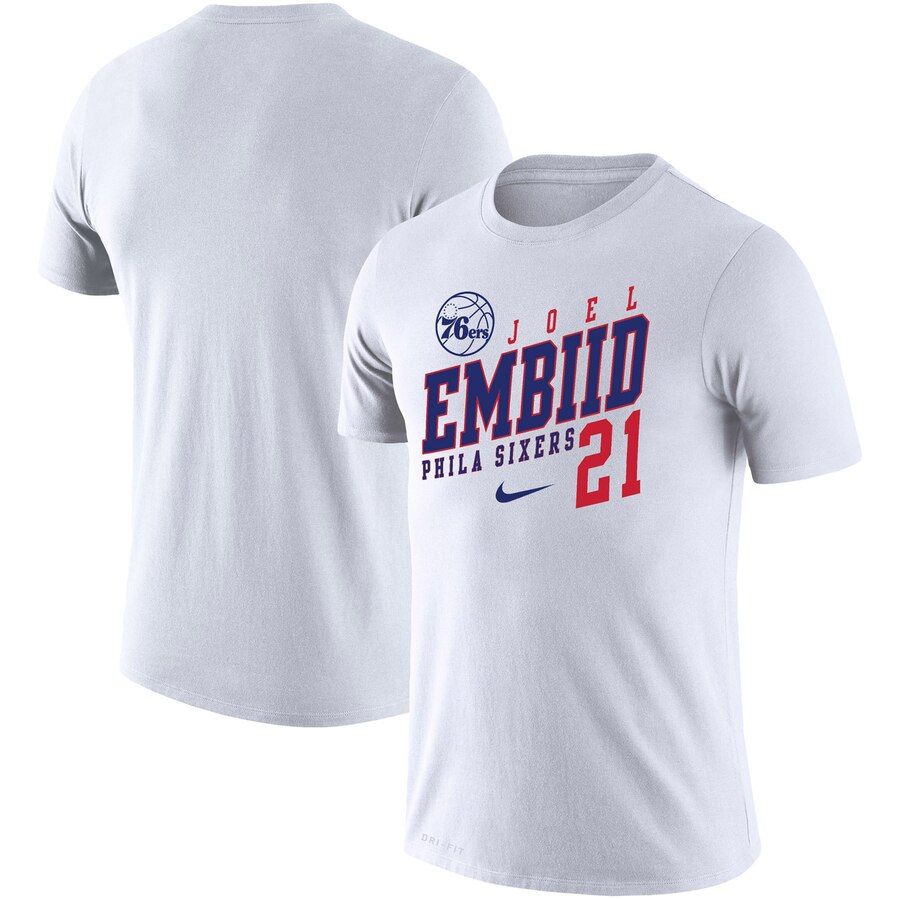 Joel Embiid Philadelphia 76ers Nike Player Performance T-Shirt White
