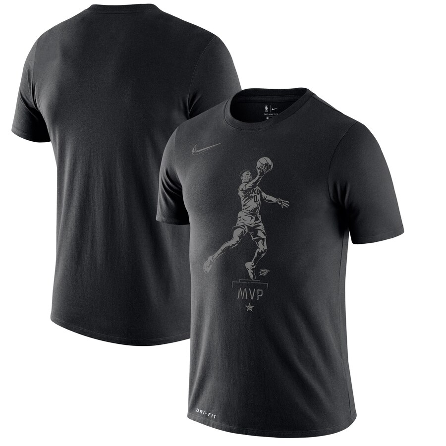 Russell Westbrook Oklahoma City Thunder Nike MVP Try Performance T-Shirt Black