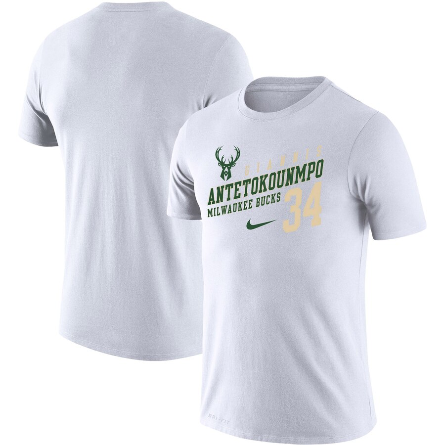 Giannis Antetokounmpo Milwaukee Bucks Nike Player Performance T-Shirt White