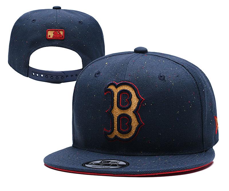 Red Sox Team Logo Navy Adjustable Hat TX