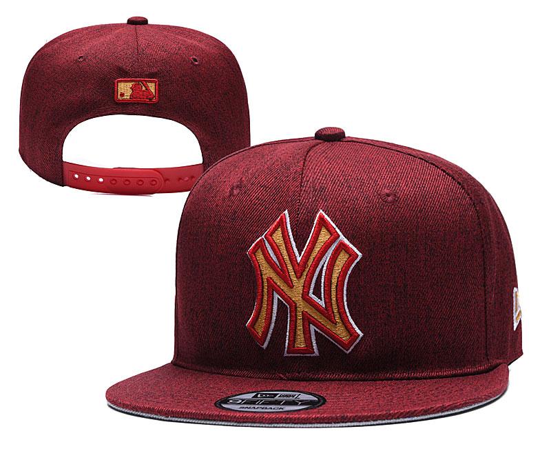 Yankees Team Logo Red Adjustable Hat TX