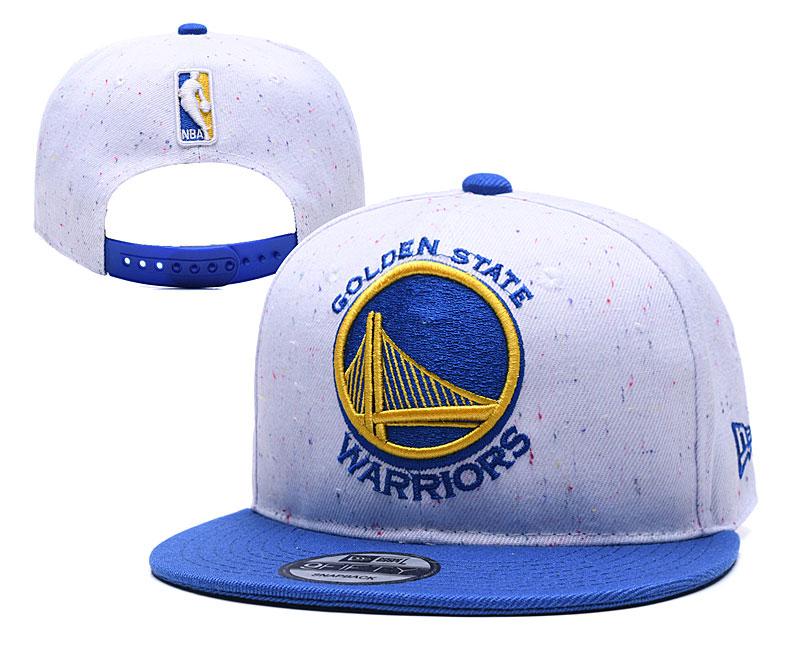 Warriors Team Logo White Adjustable Hat TX
