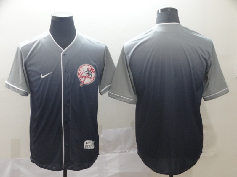 Yankees Blank Gray Drift Fashion Jersey