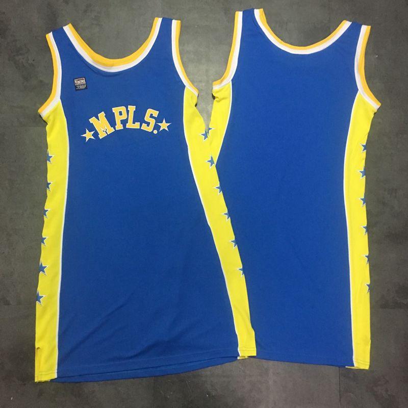 Lakers Blank Blue Women Hardwood Classics Dress Jersey