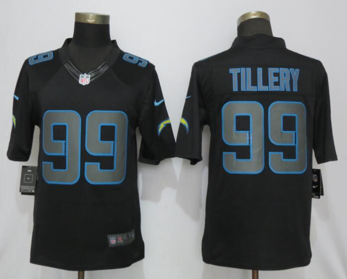 Nike Chargers 99 Jerry Tillery Black Rush Impact Limited Jersey