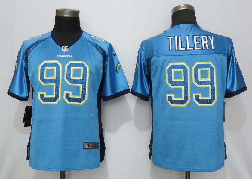 Nike Chargers 99 Jerry Tillery Blue Women Drift Fashion Limited Jersey