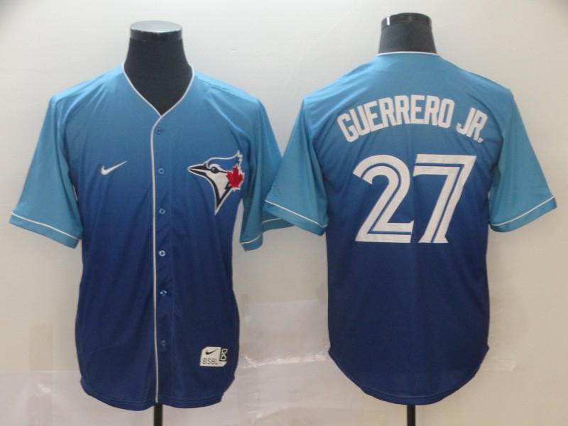 Blue Jays 27 Vladimir Guerrero Jr. Royal Drift Fashion Jersey