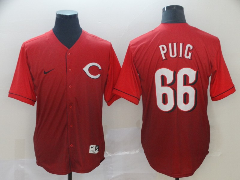 Reds 66 Yasiel Puig Red Drift Fashion Jersey
