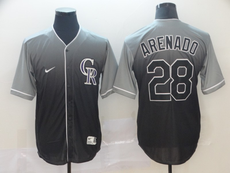 Rockies 28 Nolan Arenado Gray Drift Fashion Jersey