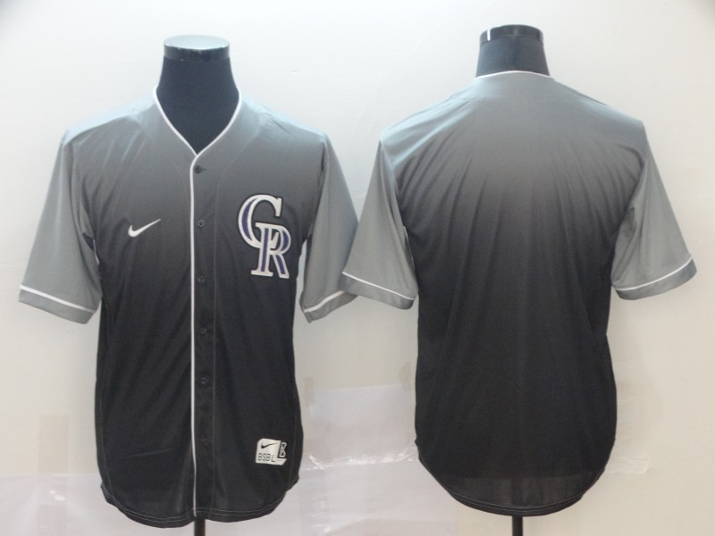Rockies Blank Gray Drift Fashion Jersey
