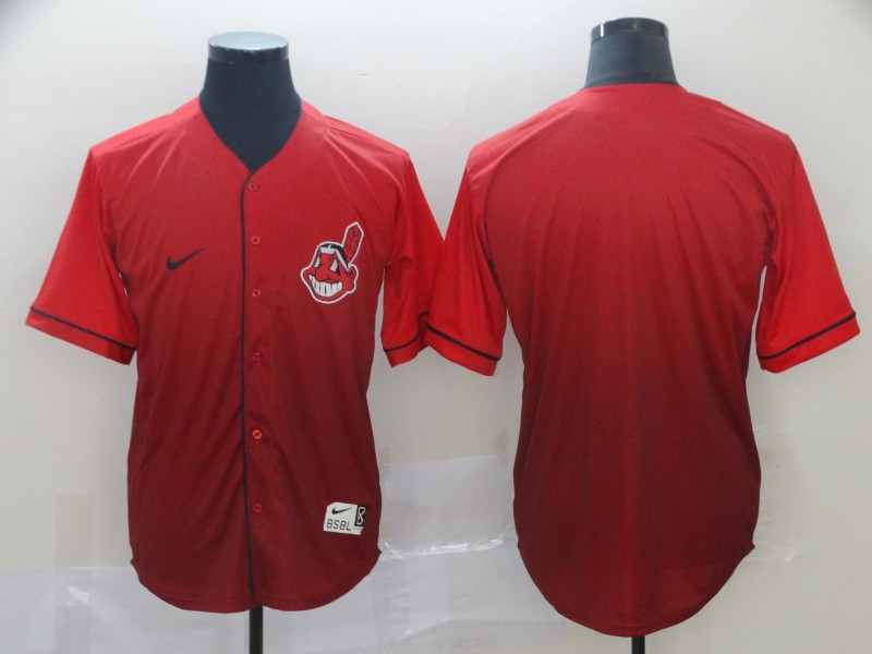 Indians Blank Red Drift Fashion Jersey