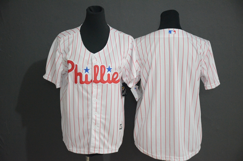 Phillies Blank White Cool Base Jersey