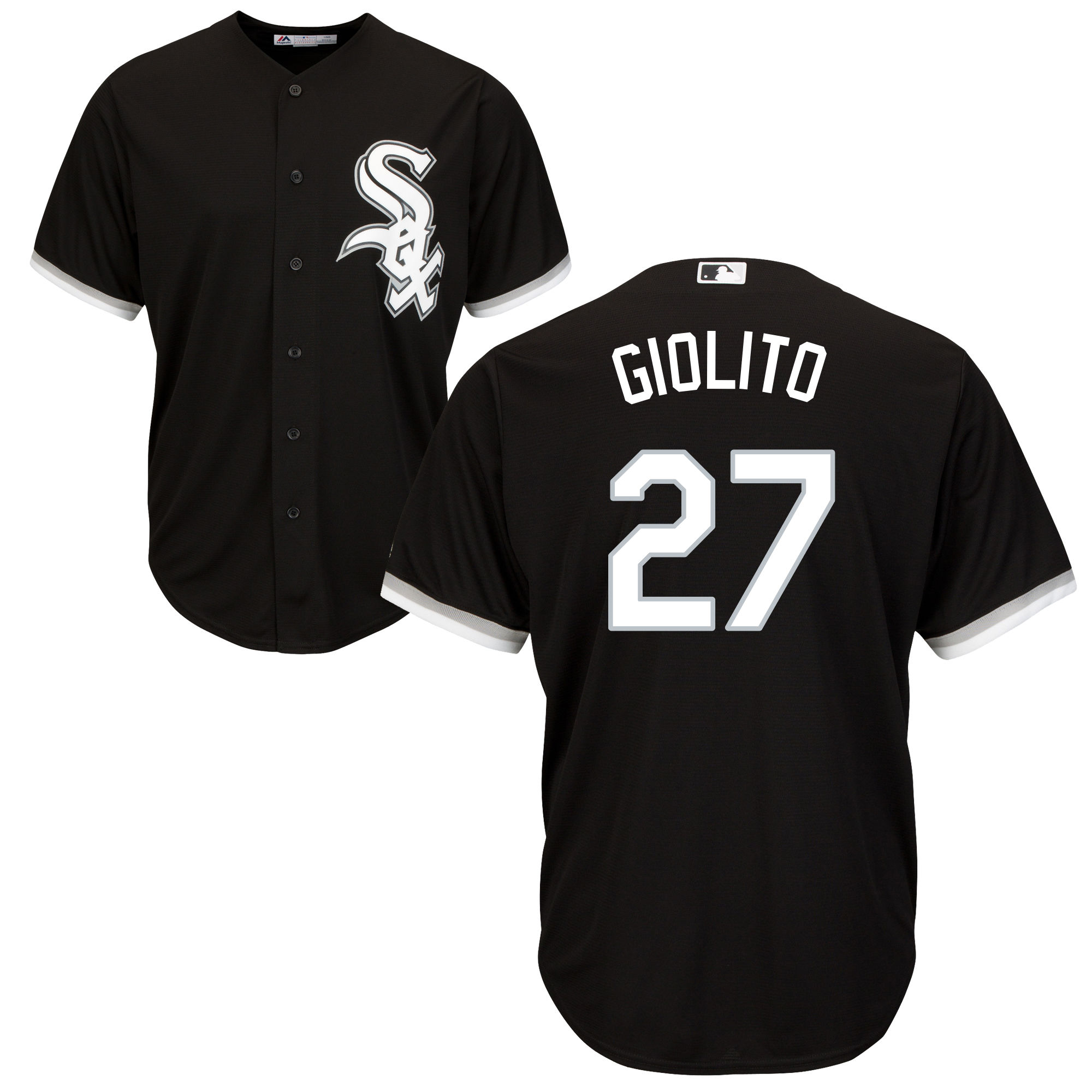 White Sox 27 Lucas Giolito Black Cool Base Jersey